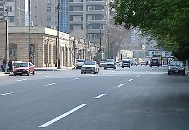 Закрывается одна из центральных улиц Баку
