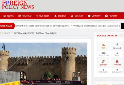 "Foreign Policy News: Формула-1 принесла славу Азербайджану <span class=""color_red"">- ФОТО</span>"