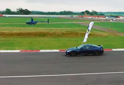 """Nissan GT-R попытался обогнать дрон, и вот что из этого вышло <span class=""""color_red"""">- ВИДЕО</span>"""
