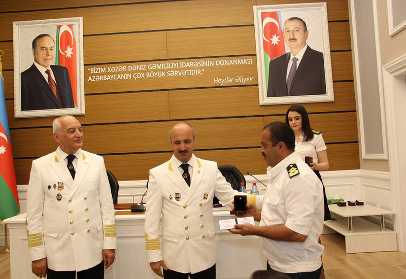 """Azərbaycan dənizçiləri peşə bayramlarını qeyd edirlər <span class=""""color_red"""">- FOTO</span>"""