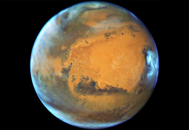 НАСА показало «перевернутый» кратер на Марсе