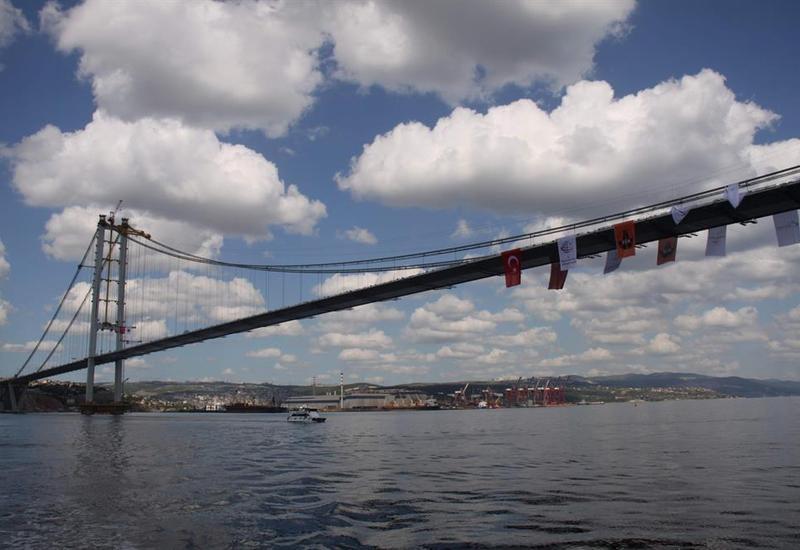 В Турции открыт второй по длине висячий мост в Европе