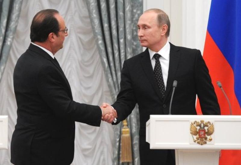 Путин и Олланд обсудили карабахский конфликт