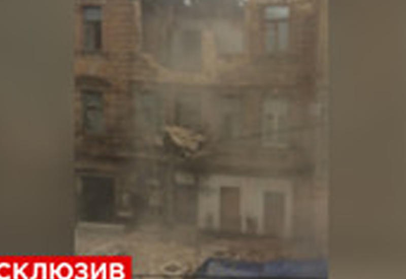 """Первые секунды обрушения дома в Ростове <span class=""""color_red"""">- ВИДЕО</span>"""