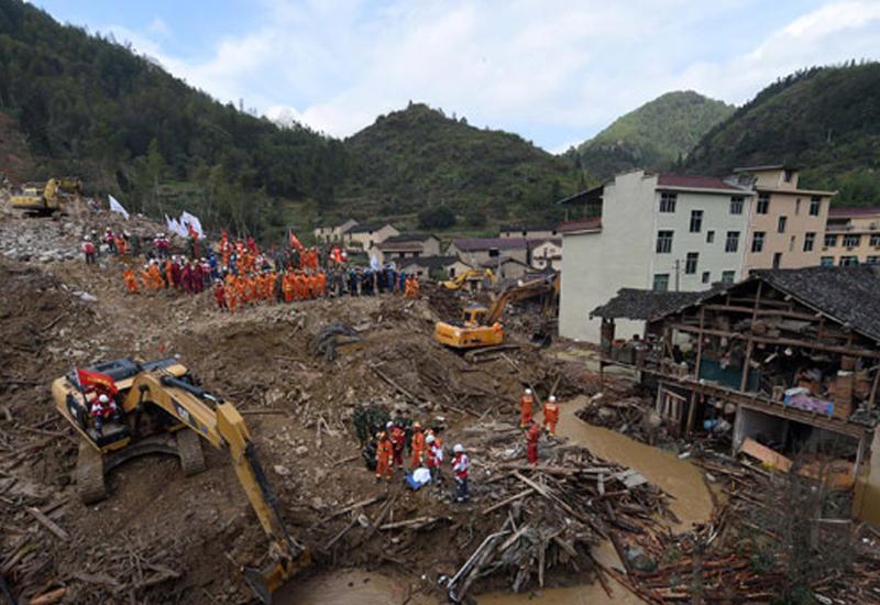 В Китае сошел оползень: есть жертвы