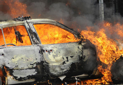 В Москве разом сгорели 7 машин