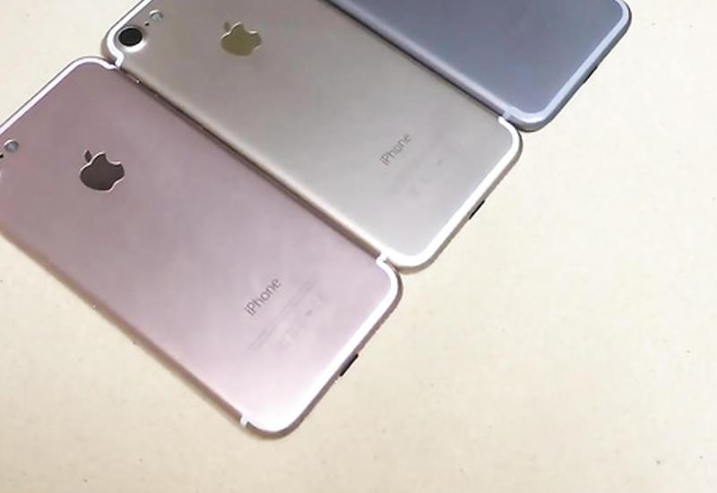 "iPhone 7 в трех цветах сняли на камеры <span class=""color_red"">- ВИДЕО</span>"