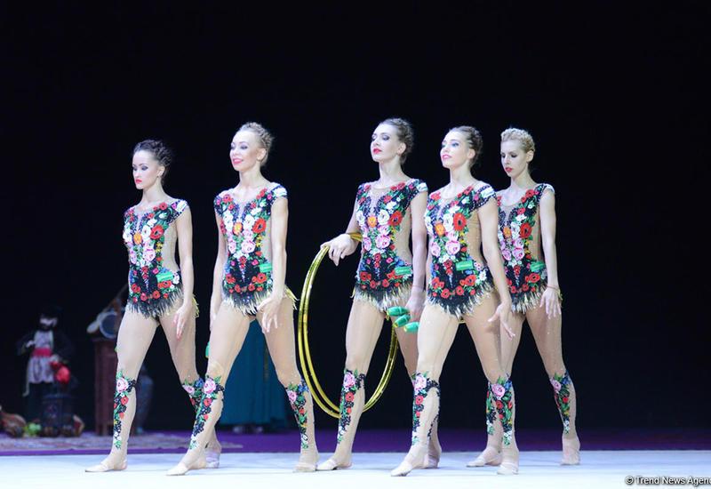Россиянки выиграли соревнования по многоборью Финала Кубка мира по художественной гимнастике в Баку