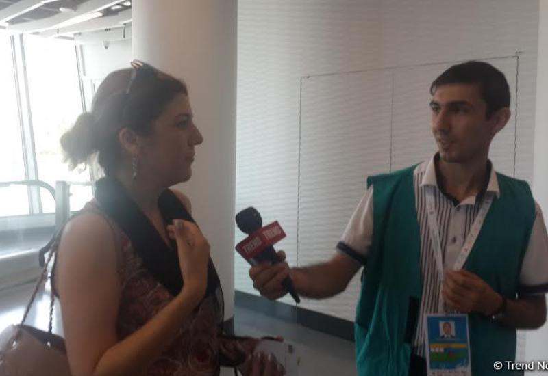 """Зрители верят в победу азербайджанских гимнасток на Кубке мира <span class=""""color_red"""">- ФОТО</span>"""