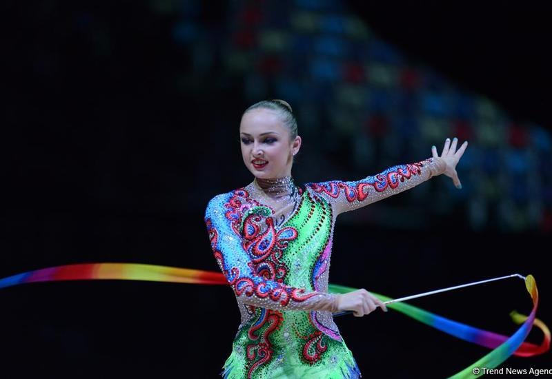Марина Дурунда вышла в финал упражнений с лентой соревнований Кубка мира в Баку