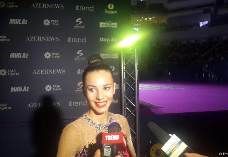 Грузинская гимнастка: На соревнованиях в Баку очень приятная обстановка