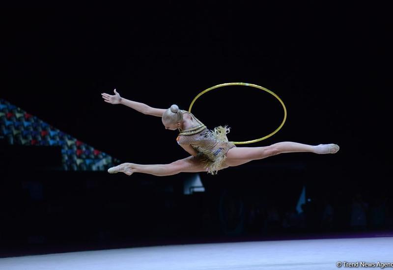 Яна Кудрявцева выиграла золотую медаль финала Кубка мира по художественной гимнастике в Баку