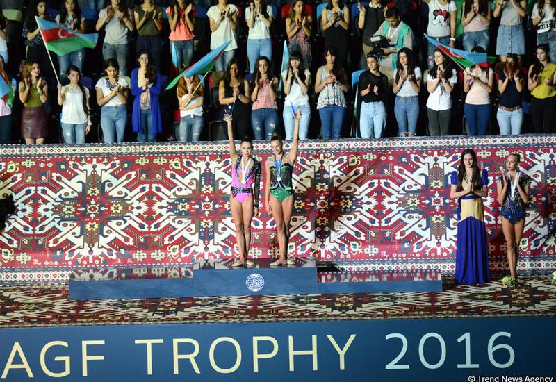 Россиянки поделили первое место в финале Кубка мира по художественной гимнастике в Баку