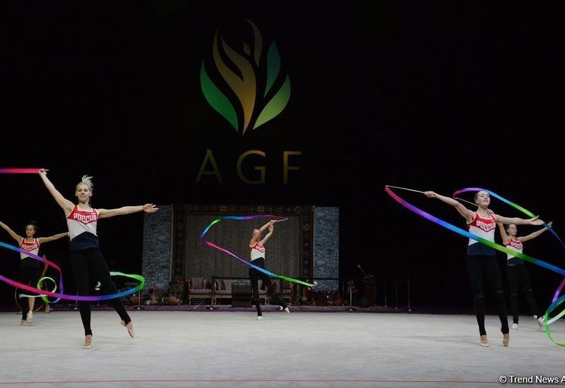 Сборная России выиграла золотую медаль Кубка мира по художественной гимнастике в Баку