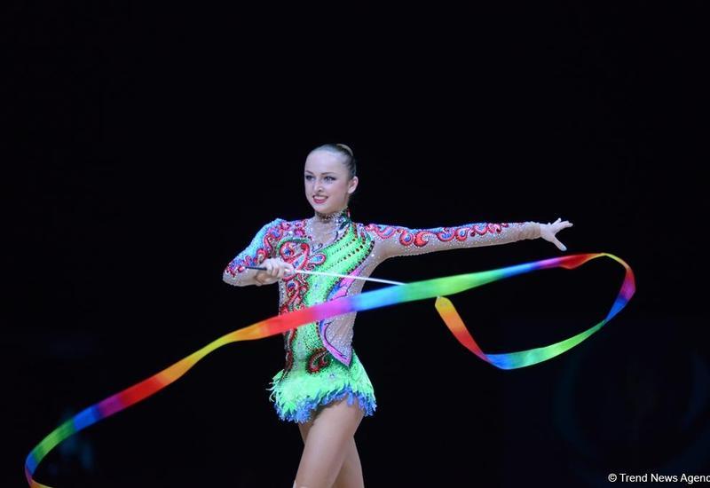 """Азербайджанская гимнастка выиграла """"бронзу"""" на Кубке мира в Баку"""