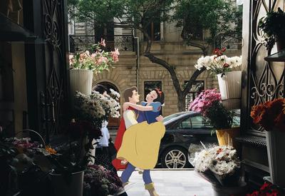 "Диснеевские герои ""ожили"" на улицах Баку <span class=""color_red"">- ФОТО</span>"