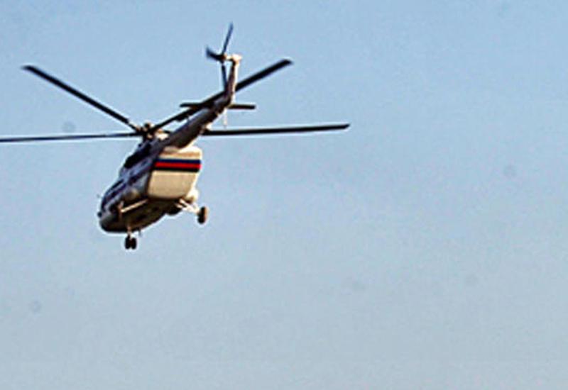 Zavoddakı yanğının söndürülməsi üçün helikopter cəlb edildi