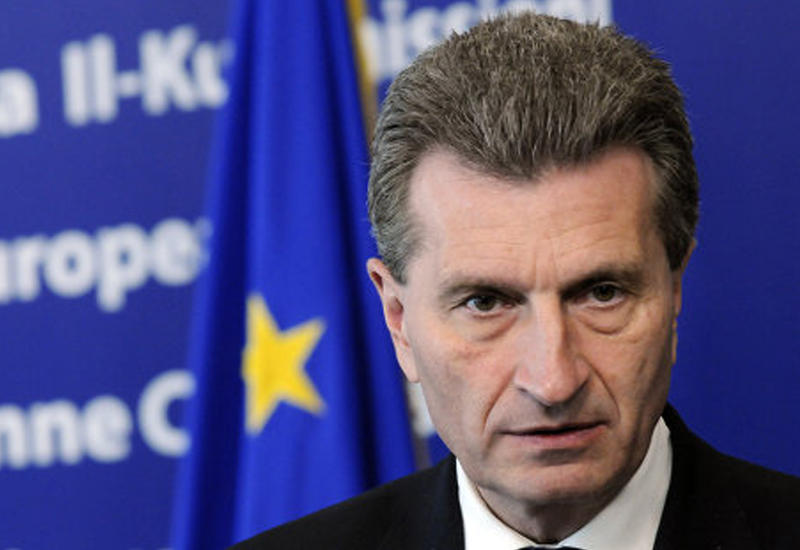 Еврокомиссар Эттингер встретится с азербайджанским министром