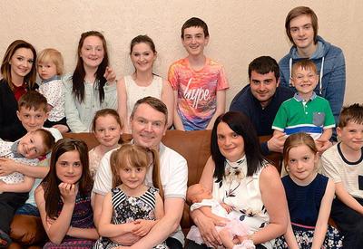 В самой многодетной семье Британии родился 19-й ребенок