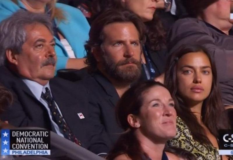 Брэдли Купер и Ирина Шейк пришли на съезд Демпартии США