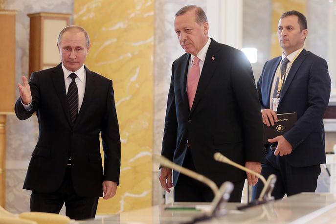 Вмеждународной Организации Объединенных Наций назвали хорошим знаком встречу В. Путина иЭрдогана
