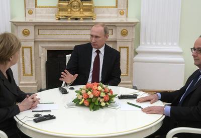 Путин, Меркель и Олланд встретятся в Китае