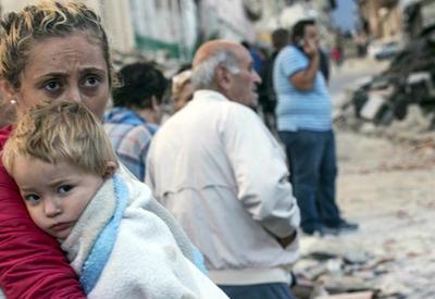 Страшные кадры мощного землетрясения в Италии