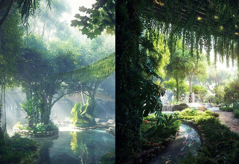 """В Дубае открывается первый в мире отель с искусственными дождевыми лесами <span class=""""color_red"""">- ФОТО</span>"""