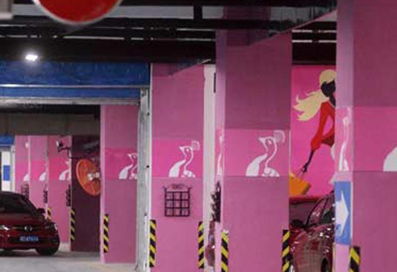 В ОАЭ появились необычные розовые парковки
