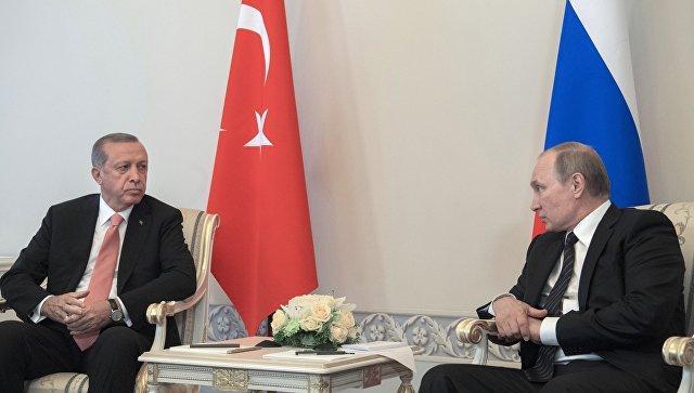 Путин: Российская Федерация видит стремление Эрдогана на100% восстановить отношения