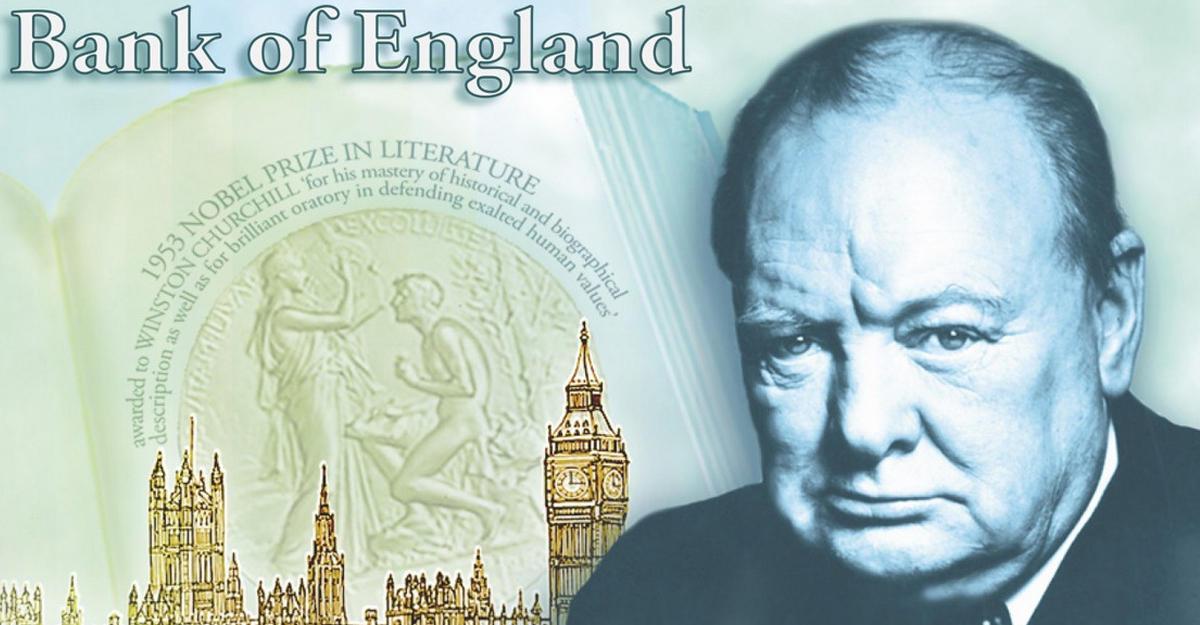 В Англии вводят вобращение банкноту спортретом Уинстона Черчилля
