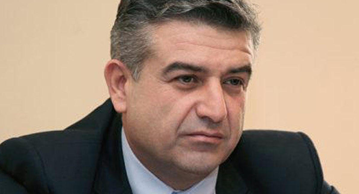 Руководитель правительстваРФ поздравил Карена Карапетяна сназначением напост премьера Армении