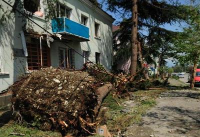Сильный ураган в Грузии, жители остались без света