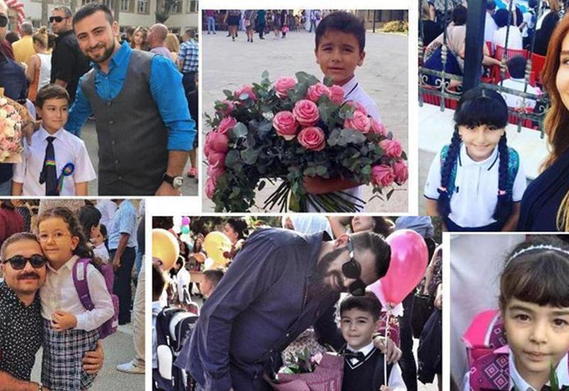 """Азербайджанские звезды вместе с детьми пошли в школу <span class=""""color_red"""">- ФОТО</span>"""