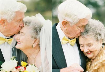 """Бабушка и дедушка снялись в трогательной фотосессии, чтобы отметить 63-летие своей любви <span class=""""color_red"""">- ФОТО</span>"""