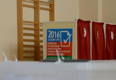 """По данным exit-poll исследовательского центра """"ELS"""" активность избирателей на референдуме в Азербайджане составила 65,1%"""