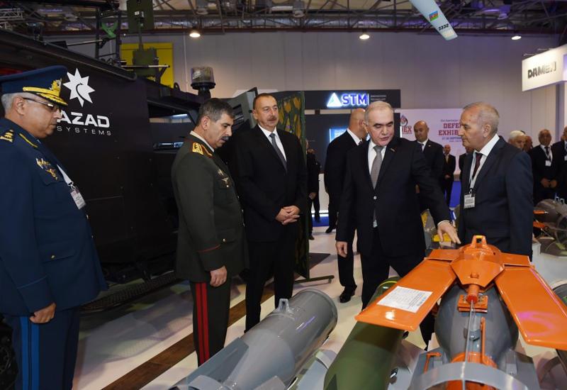 """Президент Ильхам Алиев посетил Азербайджанскую международную оборонную выставку <span class=""""color_red"""">- ФОТО</span>"""