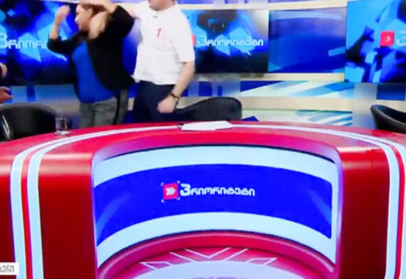 """Грузинские политики подрались в прямом эфире <span class=""""color_red"""">- ВИДЕО</span>"""