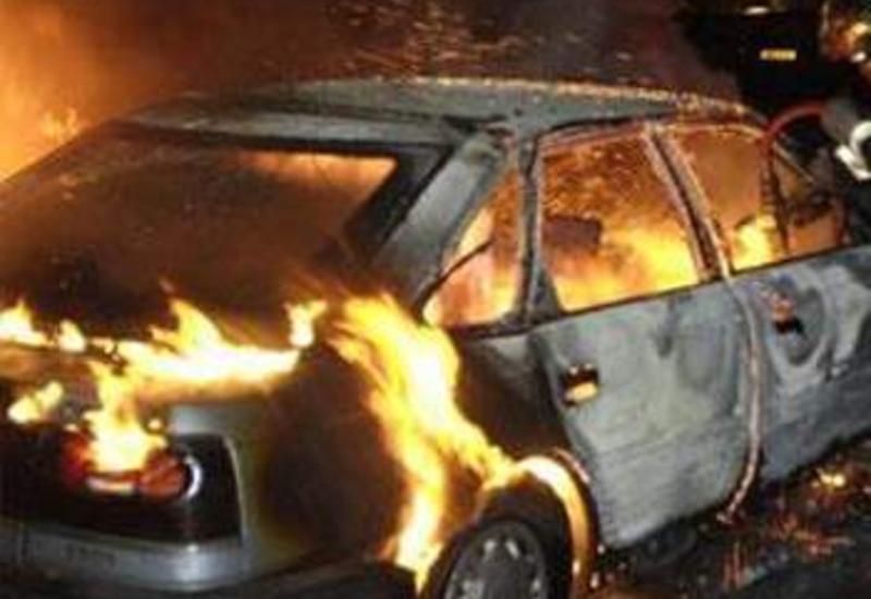 В Азербайджане сгорел автомобиль