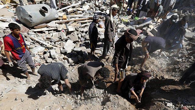 Число жертв авиаудара коалиции вЙемене увеличилось до213 человек