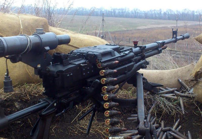 Армяне обстреливают азербайджанские позиции из крупнокалиберных пулеметов