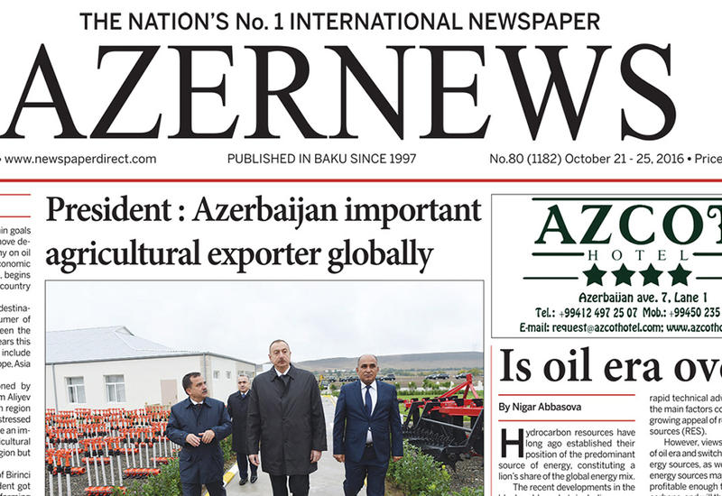 """Вышел очередной печатный номер on-line газеты Azernews <span class=""""color_red"""">– ФОТО</span>"""