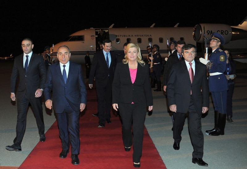 Президент Хорватии прибыла с официальным визитом в Азербайджан