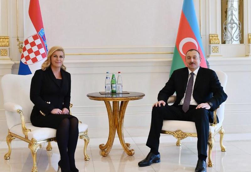 Президент Ильхам Алиев: Отношения между Азербайджаном и Хорватией находятся на высоком уровне