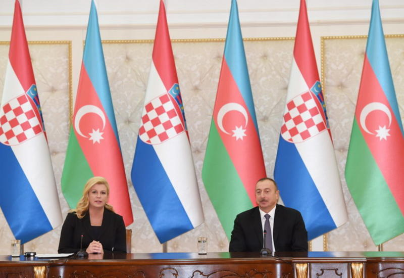 Президент Ильхам Алиев: Азербайджан и Хорватия - друзья и стратегические партнеры