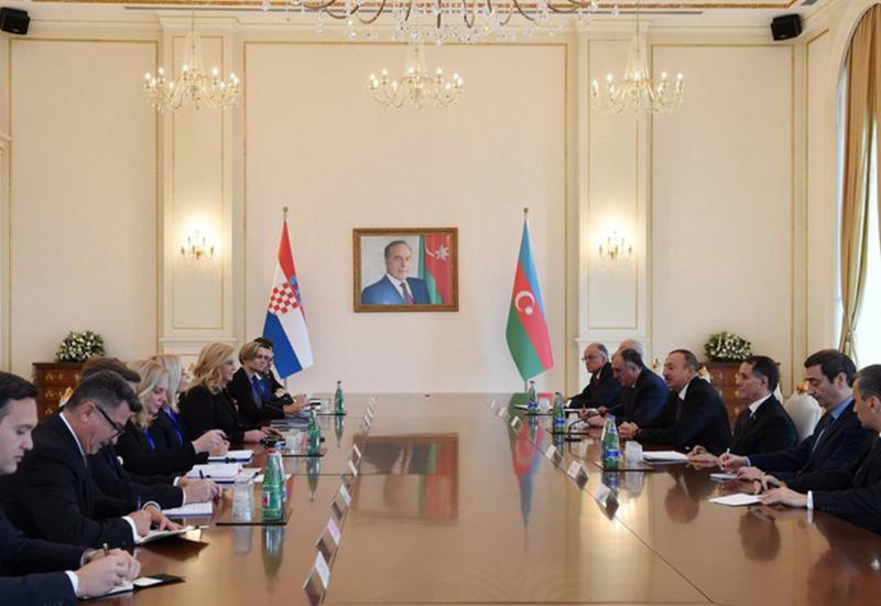 Колинда Грабар-Китарович: У Азербайджана и Хорватии есть много возможностей для всестороннего сотрудничества