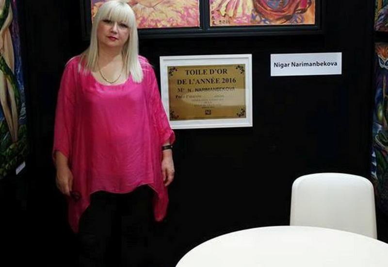 """Азербайджанская художница представила свои картины в Лувре <span class=""""color_red"""">- ФОТО</span>"""