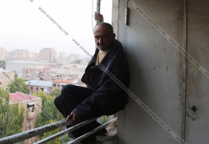 Ереванец грозился броситься с высотки из-за полицейского преследования