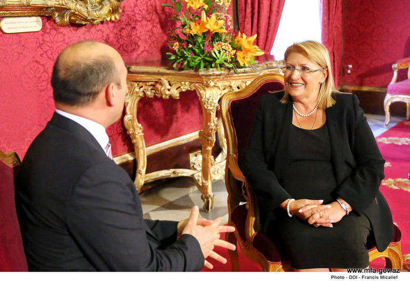 "Президент Мальты о значимости сотрудничества с Азербайджаном <span class=""color_red"">- ФОТО</span>"