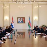 Президент Ильхам Алиев: У Азербайджана и Хорватии есть хорошая возможность для развития двустороннего сотрудничества